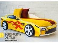 Кровать-машина Бондмобиль желтый