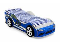 Кровать-машина Супра синяя