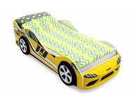 Кровать-машина Супра желтая