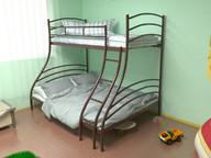 Кровать металлическая двухъярусная Глория коричневая