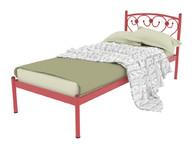 Кровать металлическая Ева красная