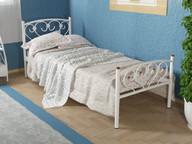 Кровать металлическая Ева Plus белая
