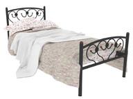 Кровать металлическая Ева Plus черная