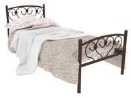 Кровать металлическая Ева Plus коричневая
