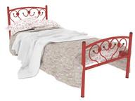 Кровать металлическая Ева Plus красная
