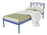 Кровать металлическая Ева синяя