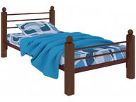 Кровать Милана мини Lux Plus коричневая
