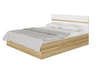 Кровать Ненси с ПМ Дуб золотой-Белый глянец