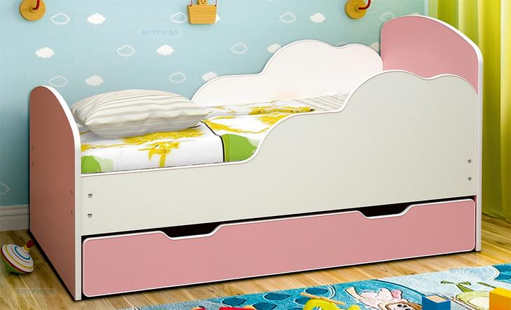 Кровать детская с ящиком Облака