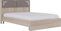 Кровать с мягким элементом бежевый 14М 1400 мм Сан-Ремо