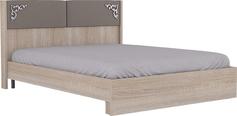 Кровать с мягким элементом бежевый 16М 1600 мм Сан-Ремо