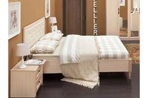 Кровать с ламелями Монпелье дуб млечный