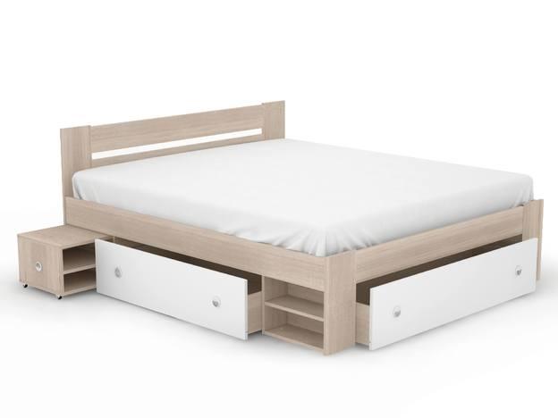 Кровать Стелла 1800 Дуб сонома-Белый