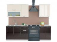 Кухня Равенна Лофт 1,8 м (60/40) ваниль глянец/шоколад