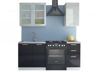 Кухня Равенна Стайл 1,2 м титан белый/титан черный