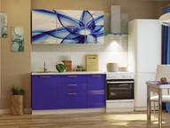 Кухонный гарнитур Риал 1500 абстракция-синий
