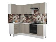 Кухонный гарнитур угловой Ева 1200х2400 мокко