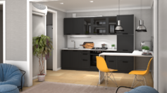 Кухня модульная Монс графит