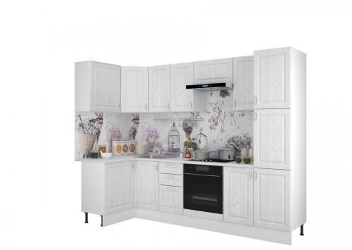 Кухонный гарнитур Принцесса 1200х2850 Арктик-Мурено