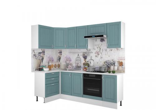 Кухонный гарнитур Принцесса 1200х2400 Арктик-Мурено
