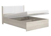 Кровать с мягким элементом и подъёмным механизмом белый 16ПМ 1600 мм Сан-Ремо