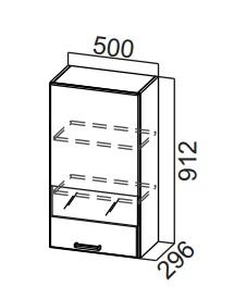 Шкаф навесной со стеклом Ш500с/912 Модус