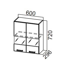 Шкаф навесной со стеклом Ш600с Модус