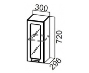 Шкаф навесной со стеклом Ш300с Классика