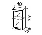 Шкаф навесной со стеклом Ш400с Классика