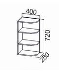 Шкаф навесной торцевой Ш400то Классика