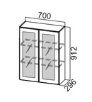 Шкаф навесной со стеклом Ш700с/912 Классика
