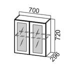 Шкаф навесной со стеклом Ш700с Классика