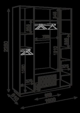 Шкаф с ящиками 4 двери М28 Тиффани