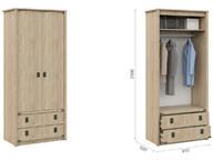 Шкаф для детской Валенсия 2д2ящ Дуб сонома