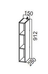 Шкаф навесной открытый ШО150-912 SV