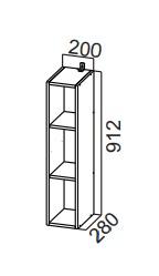 Шкаф навесной открытый ШО200-912 SV