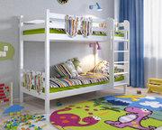 Двухъярусная кровать Сонечка с прямой лестницей