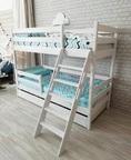 Двухъярусная кровать Сонечка с ящиками и наклонной лестницей