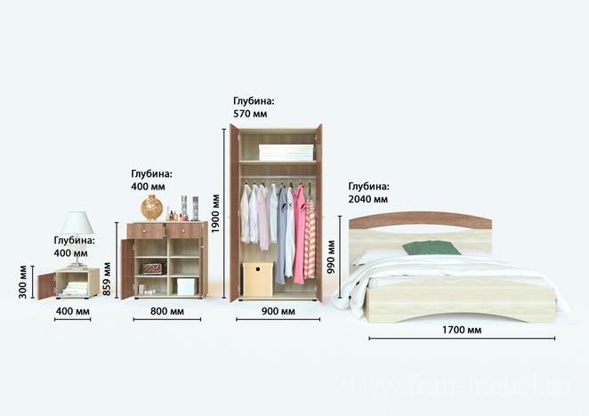 Спальный гарнитур Болеро 1