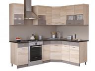 Угловая кухня Николь 1,65 х1,65 сонома/латте