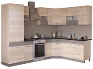 Угловая кухня Николь 2,25х1,85 сонома/латте