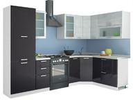 Угловая кухня Равенна Стайл 2,25х1,65 титан белый/титан черный