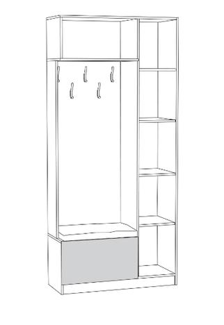 Шкаф комбинированный Ливерпуль 13-21