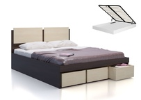 Кровать с подъемным механизмом и ящиками для белья Арт-Сити СВ-66