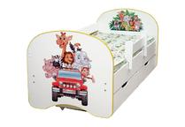 Кровать детская Зоопарк с двумя ящиками